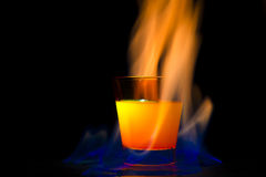 Cocktail flame Royalty Free Stock Images