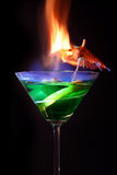 Cocktail flamejante Imagem de Stock Royalty Free