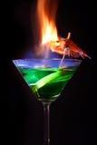 cocktail flaming Στοκ εικόνα με δικαίωμα ελεύθερης χρήσης