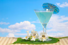 Cocktail with flowers Royalty Free Stock Images