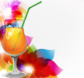 Cocktail and flowers Royalty Free Stock Photography