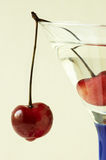 Cocktail(focus on the cherry) Stock Image