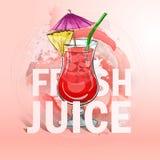 Cocktail frais de jus d'été Image libre de droits