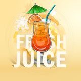 Cocktail frais de jus d'été Photos libres de droits