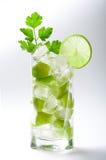 Cocktail frais de limette avec de la glace Photo libre de droits