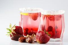Cocktail frais et froid sur le fond blanc Photos stock
