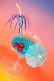 Cocktail freddo blu Immagine Stock