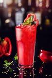 Cocktail fresco com pimenta e hortelã de sino Fotos de Stock Royalty Free