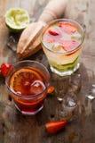 Cocktail fresco diferente Foto de Stock