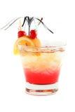 Cocktail fresco e frio no fundo branco Foto de Stock Royalty Free