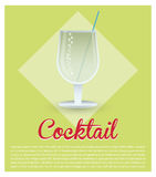 Cocktail fresh drink green background Royalty Free Stock Photo