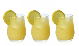 Cocktail with fresh lemon. Fresh lemon juice - cold drinks Stock Images
