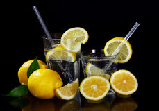 Cocktail with fresh lemons Stock Image