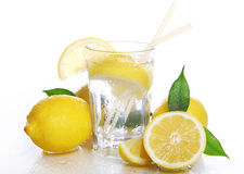 Cocktail with fresh lemons Stock Images