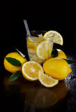 Cocktail with fresh lemons Royalty Free Stock Photography