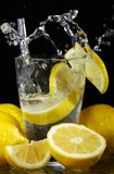 Cocktail with fresh lemons Royalty Free Stock Images