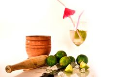 Cocktail with fresh limes Stock Image