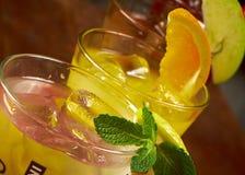 Cocktail frio tropical ajustado Fotografia de Stock Royalty Free