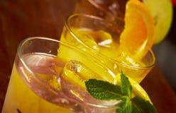 Cocktail frio tropical ajustado imagens de stock royalty free