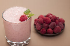 Cocktail of frozen raspberry  with yogurt . Royalty Free Stock Photography