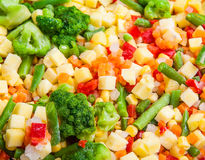 A cocktail of frozen vegetables Royalty Free Stock Image