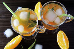 Cocktail with fruit and ice royalty free stock images