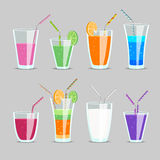 Cocktail and fruit juice drinks Stock Photography