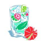 Cocktail_fruit_lead_beat-umbrella Stock Fotografie