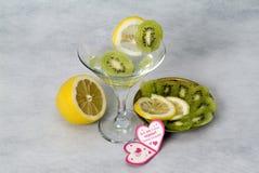 Cocktail and fruit, wedding paraphernalia Royalty Free Stock Image