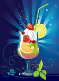 Cocktail with fruits Stock Photography