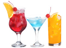 Cocktail with fruits Royalty Free Stock Images