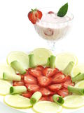 Cocktail and fruits Stock Image
