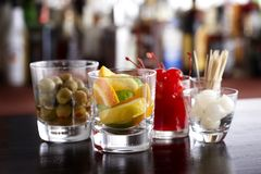 Cocktail garnishes Stock Image