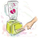 Cocktail gebroken hart. Vectorillustratie. Stock Foto