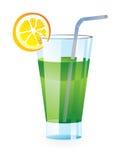 Cocktail glass. Fresh cocktail glass - vector illustration stock illustration