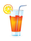 Cocktail glass. Fresh cocktail glass - vector illustration Royalty Free Stock Photography