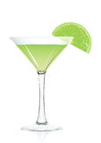 Cocktail glass vector illustration