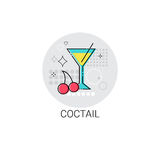 Cocktail Glass Alcohol Drink Icon. Vector Illustration Royalty Free Stock Photo