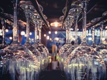 Cocktail Glass Bar rack Drink Party event Royalty Free Stock Photography