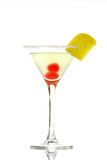 Cocktail glass with cherries Royalty Free Stock Image