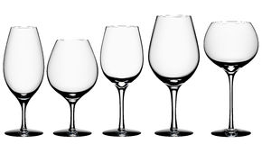 Cocktail Glass Collection isolated on white + clipping path. Cocktail Glass Collection - wine glasses isolated on white background with clipping path Royalty Free Stock Photo