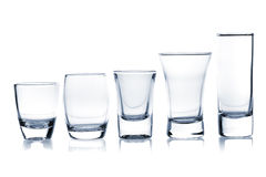 Cocktail Glass collection - Shots Royalty Free Stock Photos