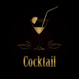 Cocktail glass design menu background Royalty Free Stock Image