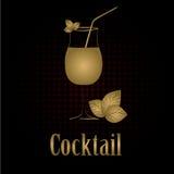 Cocktail glass design menu background Royalty Free Stock Photos