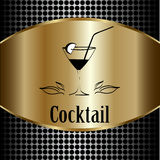 Cocktail glass design menu background. Royalty Free Stock Images