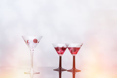Cocktail Glass Filled With Ice Royalty Free Stock Photos