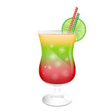 Cocktail glass garnished Royalty Free Stock Images