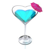Cocktail glass heart-shaped Royalty Free Stock Photos