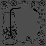 A cocktail glass Royalty Free Stock Image