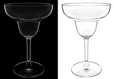 Cocktail glass isolated Stock Images